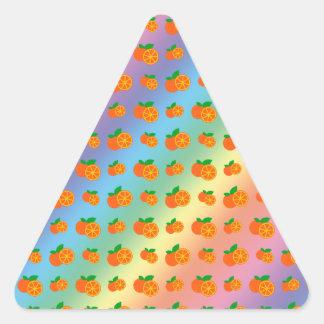 Rainbow oranges pattern sticker