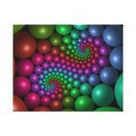 Rainbow Orbs Digital Art Stretched Canvas Prints