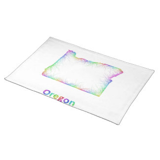 Rainbow Oregon map Placemat