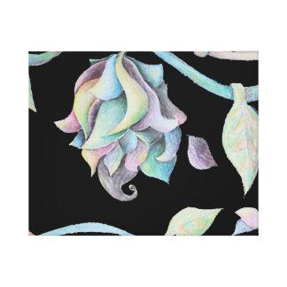 Rainbow Organic Abstract Canvas Print