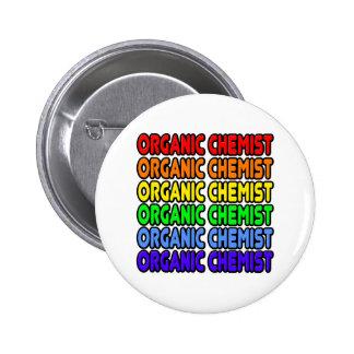 Rainbow Organic Chemist Button