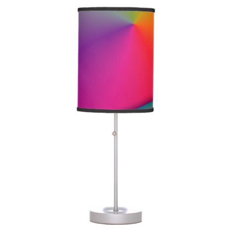 Rainbow Origami, Abstract Indigo Magenta Swirls Desk Lamp