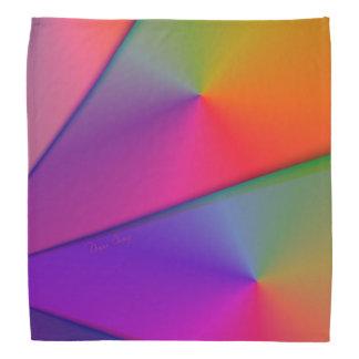 Rainbow Origami, Abstract Indigo Magenta Swirls Bandana