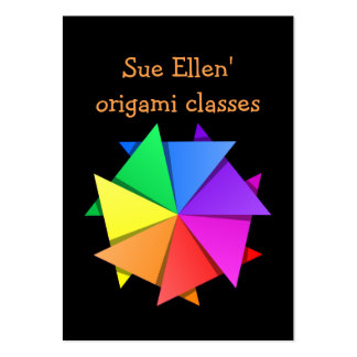 rainbow origami large business cards (Pack of 100)
