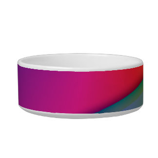 Rainbow Origami – Indigo & Magenta Swirls Bowl