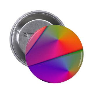 Rainbow Origami – Indigo & Magenta Swirls Button