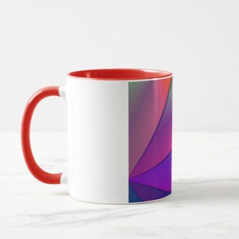 Rainbow Origami – Indigo & Magenta Swirls Mug