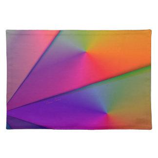 Rainbow Origami – Indigo & Magenta Swirls Placemat