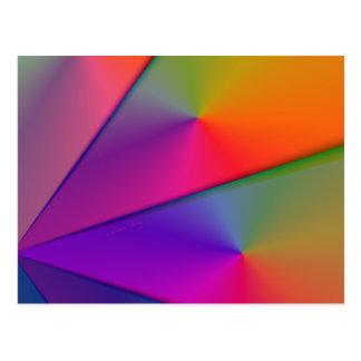 Rainbow Origami – Indigo & Magenta Swirls Postcard