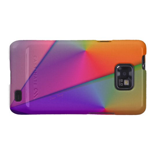 Rainbow Origami – Indigo & Magenta Swirls Samsung Galaxy SII Cover
