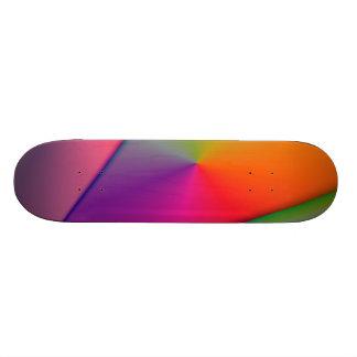 Rainbow Origami – Indigo & Magenta Swirls Skateboard Deck