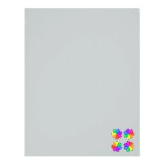 rainbow origami letterhead