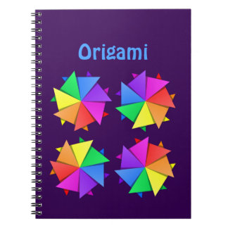 rainbow origami spiral notebook
