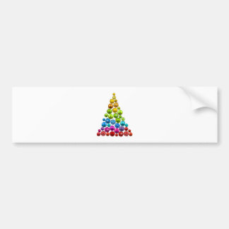 Rainbow Ornament Christmas Tree Bumper Sticker