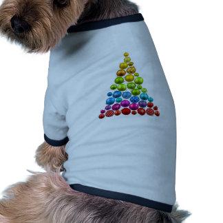 Rainbow Ornament Christmas Tree Pet Tee Shirt