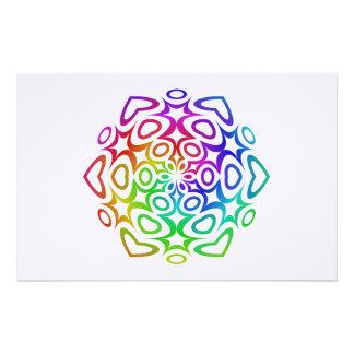 Rainbow ornament stationery