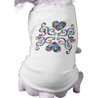 Rainbow Ornaments, heart and lily T-Shirt