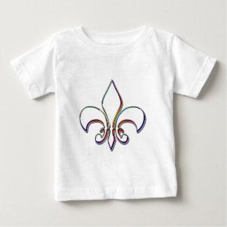Rainbow Outlined Fleur de Lis T-shirt