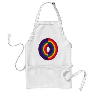 Rainbow Oval Opposite Adult Apron