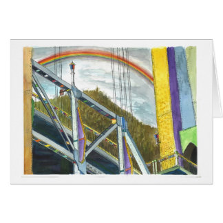 Rainbow over a Bridge Card