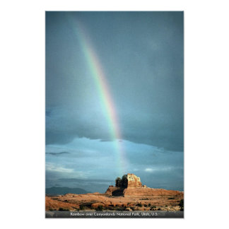 Rainbow over Canyonlands National Park, Utah, U.S. Poster