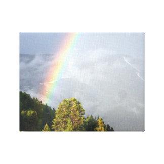 Rainbow over Colorado Mountaintop Canvas Print