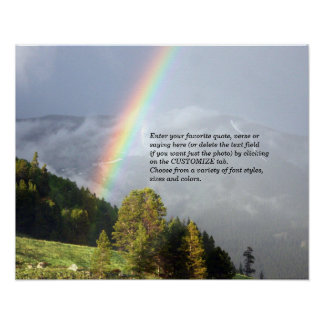 Rainbow over Colorado Mountaintop w/ Your Text Poster