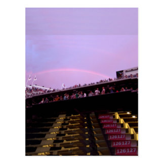 rainbow over concert section 126 lev postcard