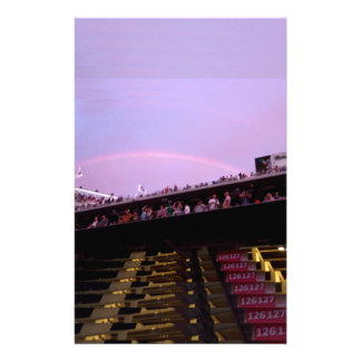 rainbow over concert section 126 lev stationery