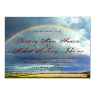 Rainbow Over Country Fields Wedding Invitations