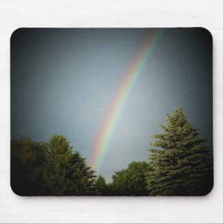 Rainbow over Evergeen Mouse Pads