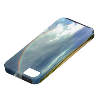 Rainbow over Field iPhone SE/5/5s Case