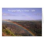 Rainbow Over Hanapepe Valley Kauai Hawaii Greeting Card