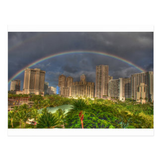Rainbow over Hawaii Post Cards