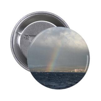 Rainbow Over Hawaiian Button
