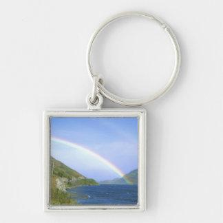 Rainbow over Hawea Lake, South Island, New Keychain
