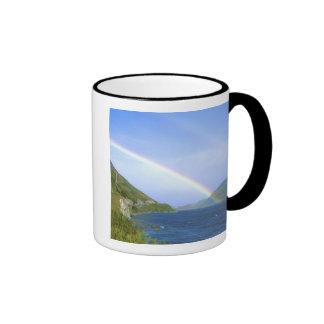 Rainbow over Hawea Lake, South Island, New Ringer Coffee Mug