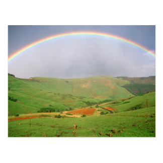 Rainbow Over Hills, Eastern Cape, South Africa Postcard
