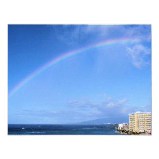 Rainbow over Honolulu, Hawaii Card