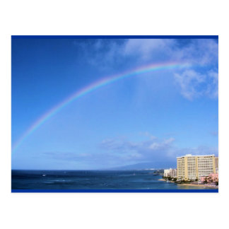 Rainbow over Honolulu, Hawaii Postcard