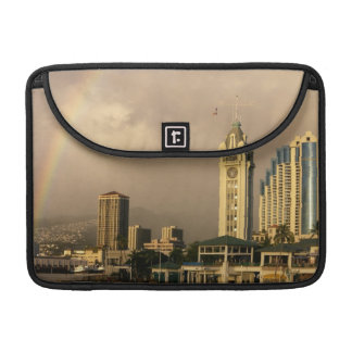 Rainbow over Honolulu, Hawaii, USA 2 Sleeve For MacBooks