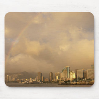 Rainbow over Honolulu, Hawaii, USA 3 Mouse Pad