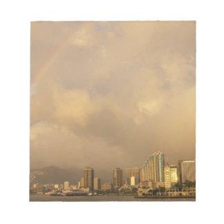 Rainbow over Honolulu, Hawaii, USA 3 Notepad