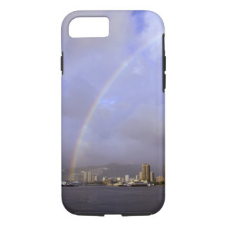 Rainbow over Honolulu, Hawaii, USA iPhone 7 Case