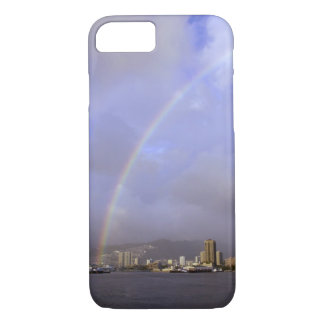 Rainbow over Honolulu, Hawaii, USA iPhone 8/7 Case