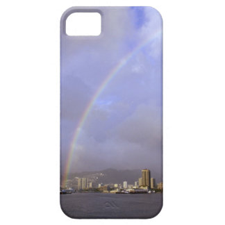 Rainbow over Honolulu, Hawaii, USA iPhone SE/5/5s Case