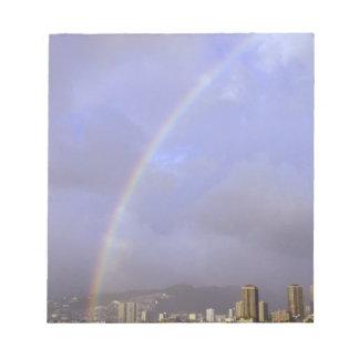 Rainbow over Honolulu, Hawaii, USA Notepad