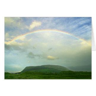 Rainbow Over  Ireland Card