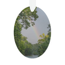 Rainbow Over James River Ornament
