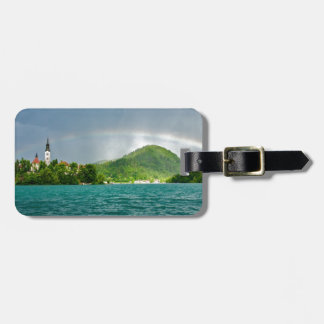 Rainbow over Lake Bled Bag Tags